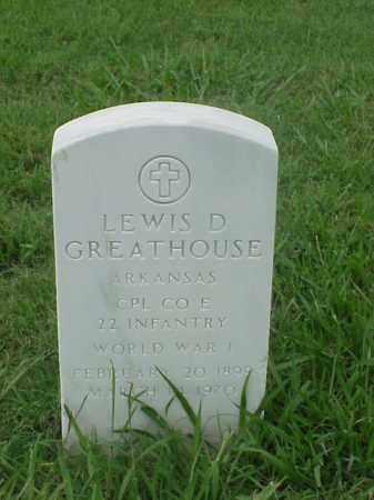 GREATHOUSE (VETERAN WWI), LEWIS D - Pulaski County, Arkansas | LEWIS D GREATHOUSE (VETERAN WWI) - Arkansas Gravestone Photos