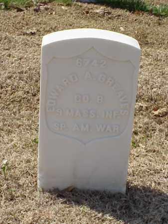 GREAVES (VETERAN SAW), EDWARD A - Pulaski County, Arkansas | EDWARD A GREAVES (VETERAN SAW) - Arkansas Gravestone Photos