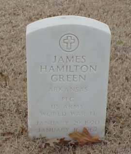GREEN  (VETERAN WWII), JAMES HAMILTON - Pulaski County, Arkansas   JAMES HAMILTON GREEN  (VETERAN WWII) - Arkansas Gravestone Photos
