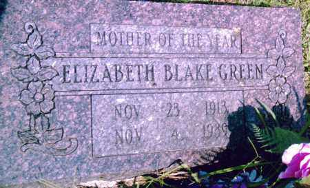 BLAKE GREEN, ELIZABETH - Pulaski County, Arkansas | ELIZABETH BLAKE GREEN - Arkansas Gravestone Photos