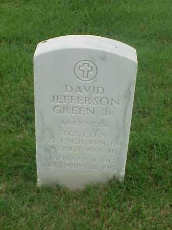 GREEN, JR (VETERAN WWII), DAVID JEFFERSON - Pulaski County, Arkansas | DAVID JEFFERSON GREEN, JR (VETERAN WWII) - Arkansas Gravestone Photos