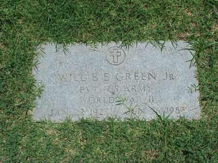 GREEN, JR (VETERAN WWII), WILLIE E - Pulaski County, Arkansas | WILLIE E GREEN, JR (VETERAN WWII) - Arkansas Gravestone Photos
