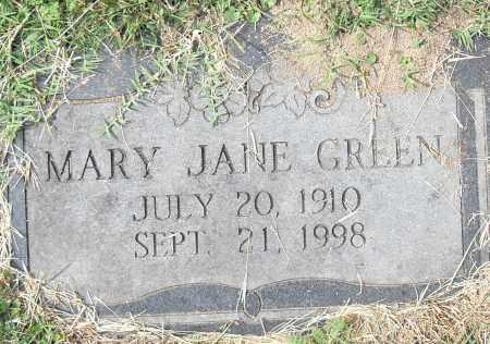 GREEN, MARY JANE - Pulaski County, Arkansas   MARY JANE GREEN - Arkansas Gravestone Photos