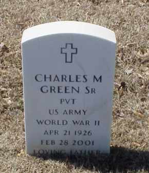 GREEN, SR (VETERAN WWII), CHARLES M - Pulaski County, Arkansas | CHARLES M GREEN, SR (VETERAN WWII) - Arkansas Gravestone Photos