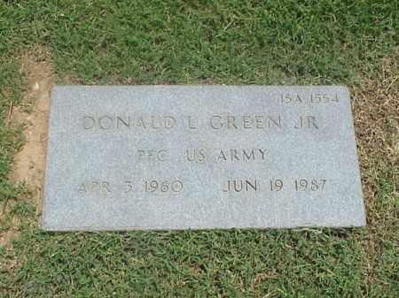 GREEN, JR (VETERAN), DONALD L - Pulaski County, Arkansas | DONALD L GREEN, JR (VETERAN) - Arkansas Gravestone Photos