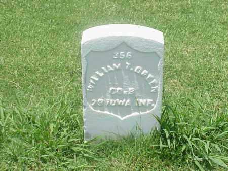 GREEN (VETERAN UNIION), WILLIAM T - Pulaski County, Arkansas | WILLIAM T GREEN (VETERAN UNIION) - Arkansas Gravestone Photos
