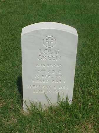 GREEN (VETERAN WWI), LOUIS - Pulaski County, Arkansas | LOUIS GREEN (VETERAN WWI) - Arkansas Gravestone Photos