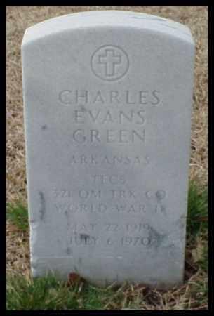 GREEN (VETERAN WWII), CHARLES EVANS - Pulaski County, Arkansas | CHARLES EVANS GREEN (VETERAN WWII) - Arkansas Gravestone Photos