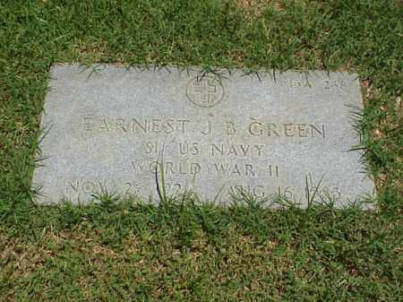 GREEN (VETERAN WWII), EARNEST J B - Pulaski County, Arkansas | EARNEST J B GREEN (VETERAN WWII) - Arkansas Gravestone Photos