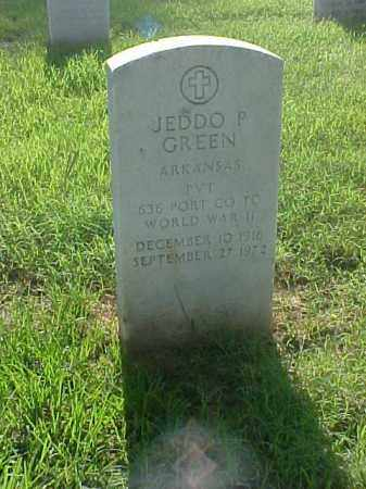 GREEN (VETERAN WWII), JEDDO P - Pulaski County, Arkansas | JEDDO P GREEN (VETERAN WWII) - Arkansas Gravestone Photos