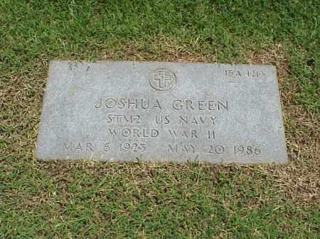 GREEN (VETERAN WWII), JOSHUA - Pulaski County, Arkansas   JOSHUA GREEN (VETERAN WWII) - Arkansas Gravestone Photos