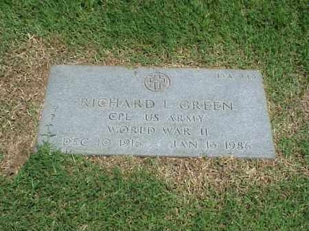 GREEN (VETERAN WWII), RICHARD L - Pulaski County, Arkansas | RICHARD L GREEN (VETERAN WWII) - Arkansas Gravestone Photos