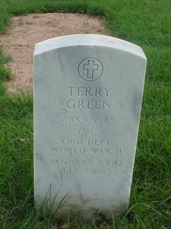 GREEN (VETERAN WWII), TERRY - Pulaski County, Arkansas | TERRY GREEN (VETERAN WWII) - Arkansas Gravestone Photos