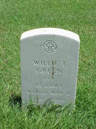 GREEN (VETERAN WWII), WILLIE T - Pulaski County, Arkansas   WILLIE T GREEN (VETERAN WWII) - Arkansas Gravestone Photos