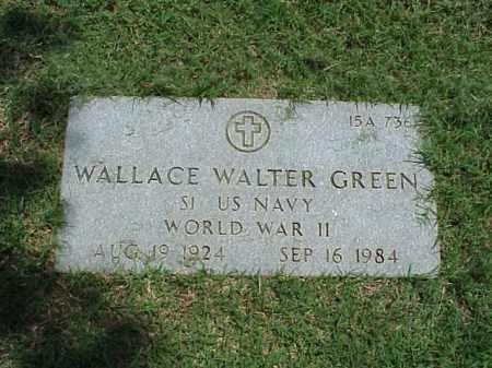 GREEN (VETERAN WWII), WALLACE WALTER - Pulaski County, Arkansas   WALLACE WALTER GREEN (VETERAN WWII) - Arkansas Gravestone Photos