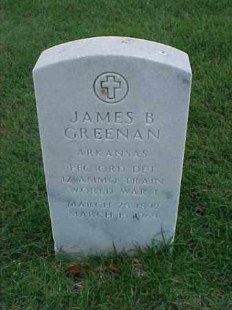 GREENAN (VETERAN WWI), JAMES B - Pulaski County, Arkansas   JAMES B GREENAN (VETERAN WWI) - Arkansas Gravestone Photos