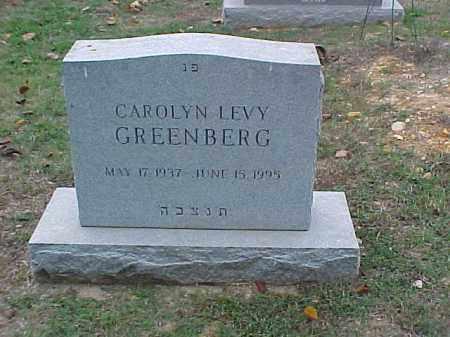 LEVY GREENBERG, CAROLYN - Pulaski County, Arkansas   CAROLYN LEVY GREENBERG - Arkansas Gravestone Photos