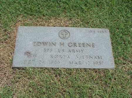 GREENE (VETERAN 3 WARS), EDWIN H - Pulaski County, Arkansas | EDWIN H GREENE (VETERAN 3 WARS) - Arkansas Gravestone Photos
