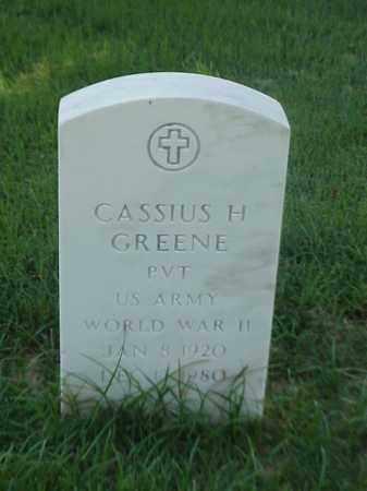 GREENE (VETERAN WWII), CASSIUS H - Pulaski County, Arkansas   CASSIUS H GREENE (VETERAN WWII) - Arkansas Gravestone Photos