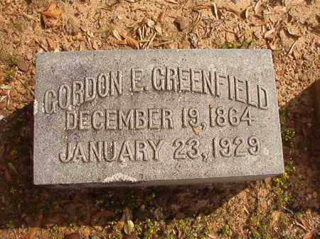 GREENFIELD, GORDON E - Pulaski County, Arkansas   GORDON E GREENFIELD - Arkansas Gravestone Photos