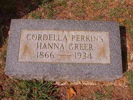 GREER, CORDELLA - Pulaski County, Arkansas | CORDELLA GREER - Arkansas Gravestone Photos