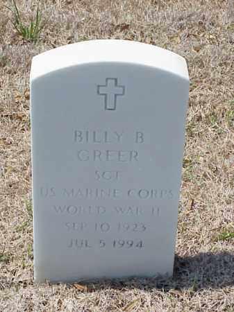 GREER (VETERAN WWII), BILLY B - Pulaski County, Arkansas | BILLY B GREER (VETERAN WWII) - Arkansas Gravestone Photos