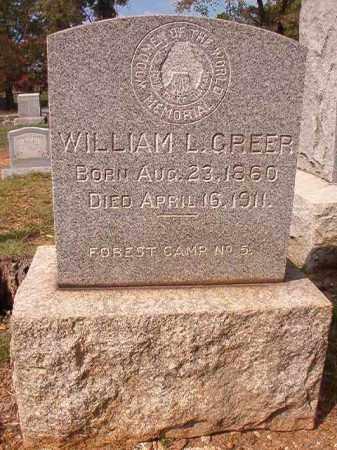 GREER, WILLIAM L - Pulaski County, Arkansas   WILLIAM L GREER - Arkansas Gravestone Photos