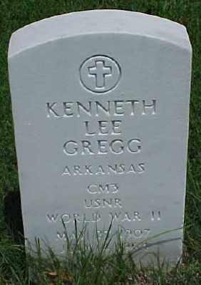 GREGG (VETERAN WWII), KENNETH LEE - Pulaski County, Arkansas   KENNETH LEE GREGG (VETERAN WWII) - Arkansas Gravestone Photos