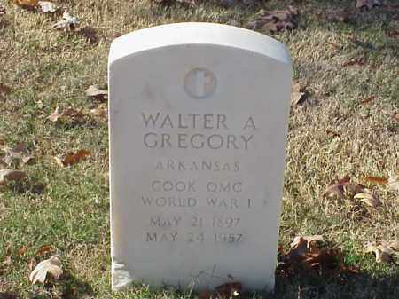 GREGORY  (VETERAN WWI), WALTER A - Pulaski County, Arkansas | WALTER A GREGORY  (VETERAN WWI) - Arkansas Gravestone Photos
