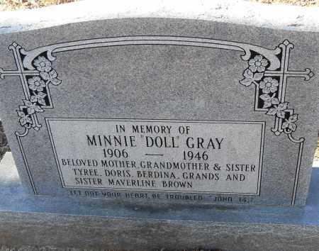 "GREY, MINNIE ""DOLL"" - Pulaski County, Arkansas | MINNIE ""DOLL"" GREY - Arkansas Gravestone Photos"