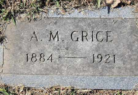 GRICE, A M - Pulaski County, Arkansas | A M GRICE - Arkansas Gravestone Photos