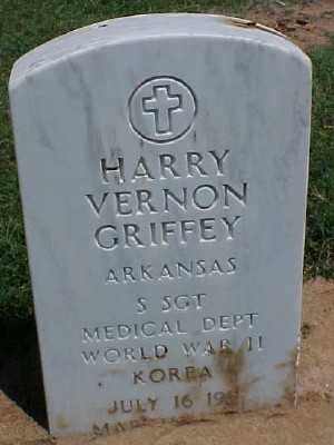 GRIFFEY (VETERAN 2 WARS), HARRY VERNON - Pulaski County, Arkansas   HARRY VERNON GRIFFEY (VETERAN 2 WARS) - Arkansas Gravestone Photos