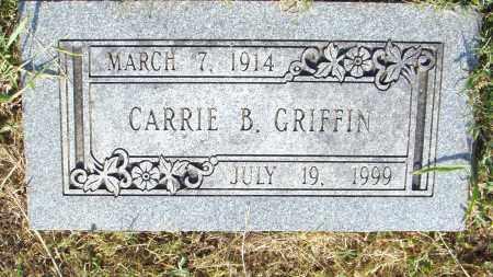 GRIFFIN, CARRIE B - Pulaski County, Arkansas | CARRIE B GRIFFIN - Arkansas Gravestone Photos