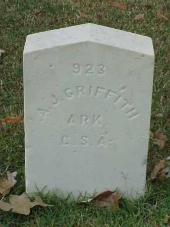 GRIFFITH  (VETERAN CSA), A J - Pulaski County, Arkansas | A J GRIFFITH  (VETERAN CSA) - Arkansas Gravestone Photos