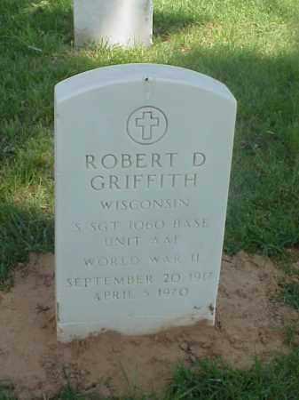 GRIFFITH (VETERAN WWII), ROBERT D - Pulaski County, Arkansas | ROBERT D GRIFFITH (VETERAN WWII) - Arkansas Gravestone Photos