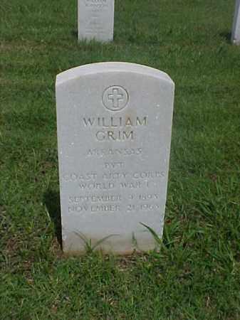 GRIM (VETERAN WWI), WILLIAM - Pulaski County, Arkansas | WILLIAM GRIM (VETERAN WWI) - Arkansas Gravestone Photos