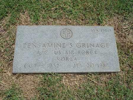 GRINAGE (VETERAN KOR), BENJAMINE S - Pulaski County, Arkansas | BENJAMINE S GRINAGE (VETERAN KOR) - Arkansas Gravestone Photos
