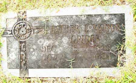 WOODS GRINDER, ESTHER L - Pulaski County, Arkansas | ESTHER L WOODS GRINDER - Arkansas Gravestone Photos