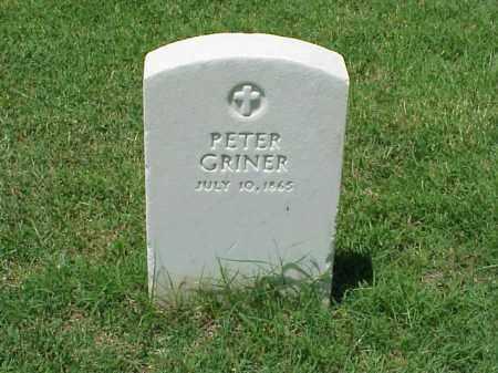 GRINER (VETERAN), PETER - Pulaski County, Arkansas   PETER GRINER (VETERAN) - Arkansas Gravestone Photos