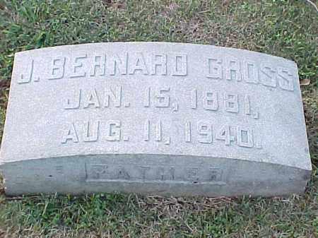 GROSS, J BERNARD - Pulaski County, Arkansas | J BERNARD GROSS - Arkansas Gravestone Photos