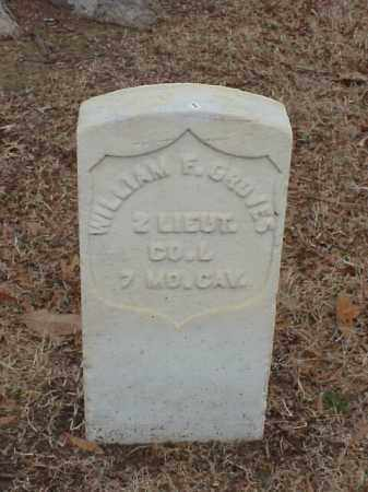 GROVES (VETERAN UNION), WILLIAM F - Pulaski County, Arkansas   WILLIAM F GROVES (VETERAN UNION) - Arkansas Gravestone Photos