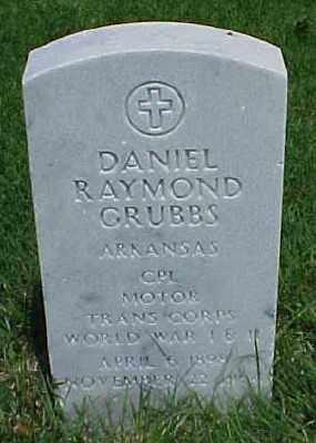GRUBBS (VETERAN 2 WARS), DANIEL RAYMOND - Pulaski County, Arkansas | DANIEL RAYMOND GRUBBS (VETERAN 2 WARS) - Arkansas Gravestone Photos