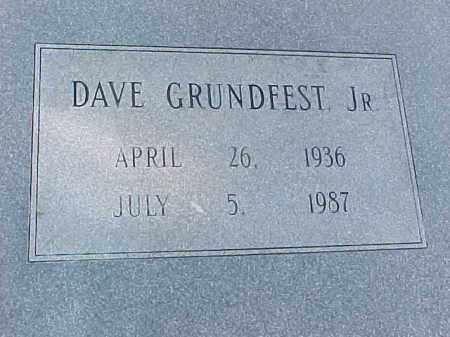 GRUNDFEST, JR, DAVE (CLOSEUP) - Pulaski County, Arkansas | DAVE (CLOSEUP) GRUNDFEST, JR - Arkansas Gravestone Photos