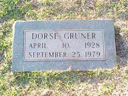 GRUNER, DORSE - Pulaski County, Arkansas | DORSE GRUNER - Arkansas Gravestone Photos