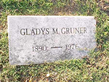 GRUNER, GLADYS M - Pulaski County, Arkansas | GLADYS M GRUNER - Arkansas Gravestone Photos