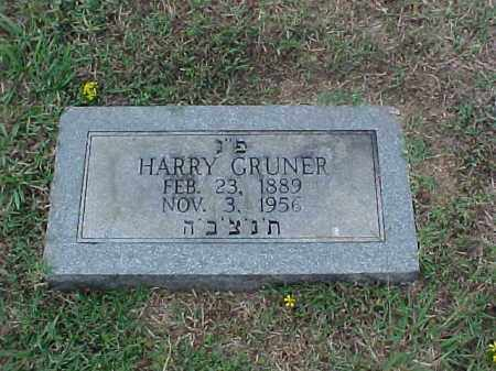 GRUNER, HARRY - Pulaski County, Arkansas | HARRY GRUNER - Arkansas Gravestone Photos
