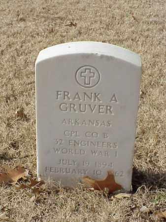 GRUVER  (VETERAN WWI), FRANK A - Pulaski County, Arkansas | FRANK A GRUVER  (VETERAN WWI) - Arkansas Gravestone Photos