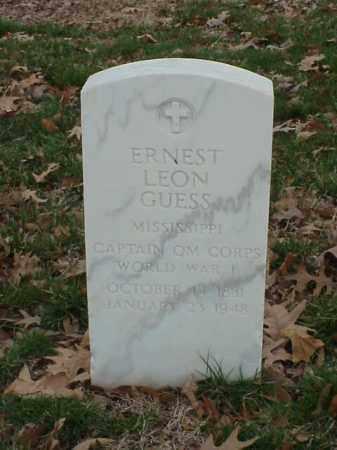 GUESS (VETERAN WWI), ERNEST LEON - Pulaski County, Arkansas | ERNEST LEON GUESS (VETERAN WWI) - Arkansas Gravestone Photos
