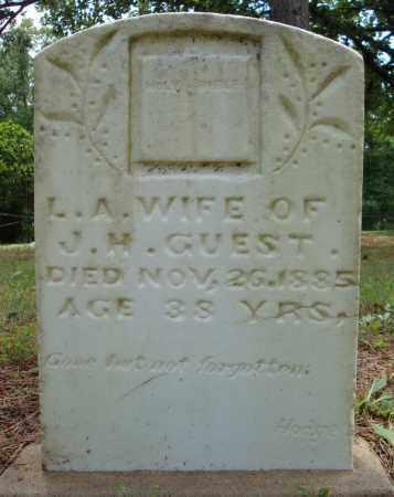 GUEST, L. A. - Pulaski County, Arkansas | L. A. GUEST - Arkansas Gravestone Photos