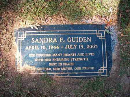 GUIDEN, SANDRA F - Pulaski County, Arkansas | SANDRA F GUIDEN - Arkansas Gravestone Photos
